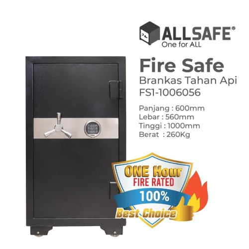 Foto Produk Brankas/Brangkas Fire Safe ALLSAFE FS1-100 (H1000XW600XD560MM) dari Biru International