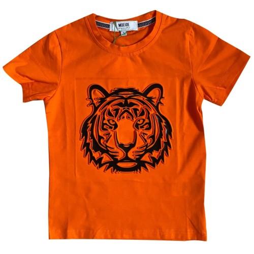 Foto Produk MOEJOE Tiger Head Printed Tee - Orange, 4 dari moejoeapparel