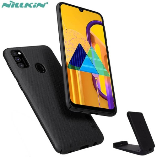 Foto Produk Nillkin Hard Case Samsung Galaxy M21 - Frosted Shield Black Casing Ori dari Logay Accessories