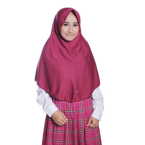 Foto Produk Rabbani - Kerudung Sekolah Instan Innova - Merah, S dari Rabbani Official