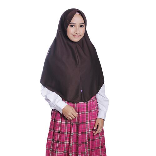 Foto Produk Rabbani - Kerudung Sekolah Instan Innova - Cokelat, M dari Rabbani Official