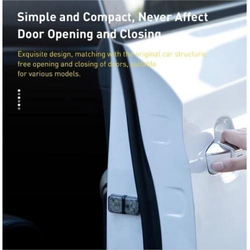 Foto Produk BASEUS CAR DOOR OPEN WARNING LIGHT LED LAMP LAMPU PINTU MOBIL 2PCS - Putih dari GADVENTIA Official Store