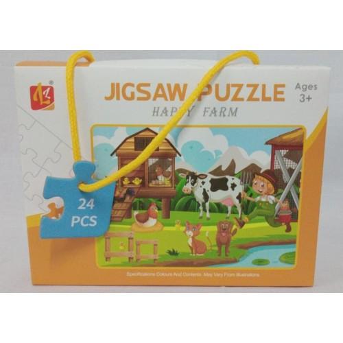 Foto Produk MAINAN JIGZAW PUZZLE FARM 24PCS HW19128391 dari Jiwoo Toys