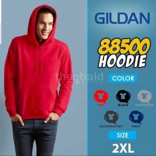 Foto Produk Gildan Hoodie 88500 Original SIZE XXL dari Kaos Polos Theobald