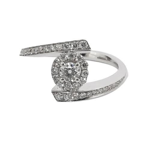 Foto Produk Cincin Diamond Ring Bonita - Goldmart Jewelry - GDR 4269W dari Goldmart Official Shop