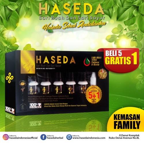 Foto Produk HASEDA HERBAL TETES ISI 5 BOTOL - Sari Buah & Sari Sayur (FAMILY) dari amanahberkahkencana