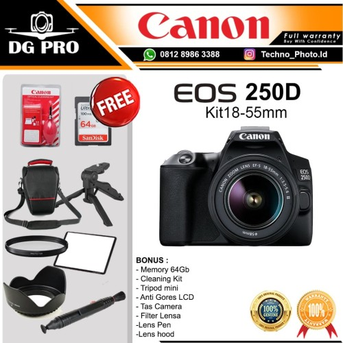 Foto Produk Canon EOS 250D Kit 18-55mm - Kamera DSLR Canon ORIGINAL - A Unit Only dari DG PRO