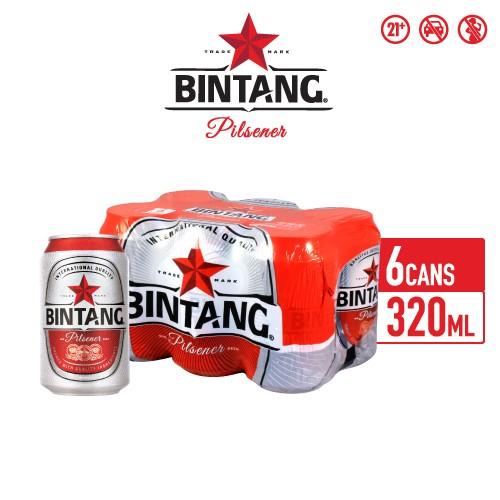 Foto Produk Bir Bintang Pilsener 320ml Can Multipack 6 dari Drink Corner Bekasi