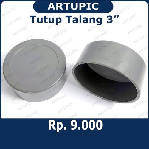 """Foto Produk Tutup Talang 3"""" inch   Tutup Pipa 3"""" inch   Dop Pipa Air 3 Inch   Dop dari ArtupicPeralatanPeternak"""