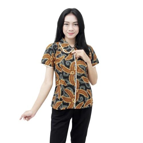 Foto Produk Kemeja Batik Wanita Atasan Batik Modern Motif Bintang Laut - L dari BATIK DUA PUTRI