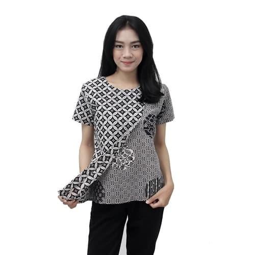 Foto Produk Batik Wanita Blouse Atasan Batik Modern Size S - 5L JUMBO - S dari BATIK DUA PUTRI
