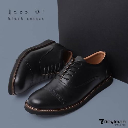 Foto Produk REYL JAZZ 0.1 | Sepatu Pantofel Pria Sepatu Kulit Pria Formal Hitam - Cokelat, 39 dari sepatulokalid