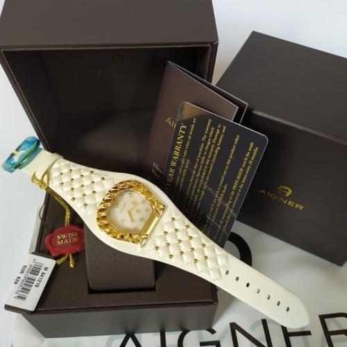 Foto Produk Ready Aigner A41215 Watch Gold White Leather dari ferliarj16