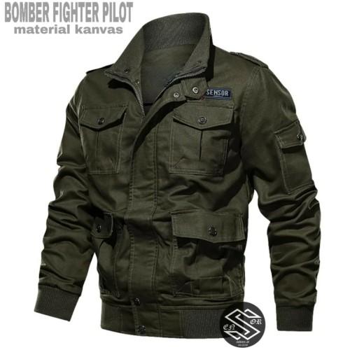Foto Produk jaket bomber pria canvas sensor terbaru - Hijau dari playjeans