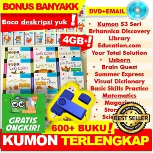 Foto Produk Paket Buku Anak Ebook Kumon Lengkap Murah Mainan Edukasi Calistung SD - Kumon Saja, DVD dari Toserba Smart