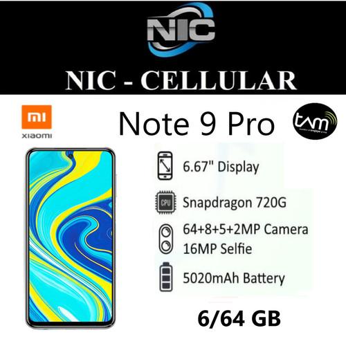 Foto Produk Xiaomi Redmi Note 9 Pro 6/64 RAM 6GB ROM 64GB GARANSI RESMI XIAOMI dari Nic-cell