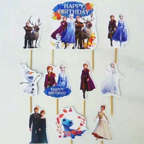 Foto Produk topper cake hiasan kue ulang tahun karakter frozen dari recht shop
