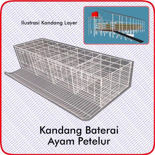 Foto Produk Kandang Baterai Kawat Ayam Petelur dari MITRAALATTERNAK