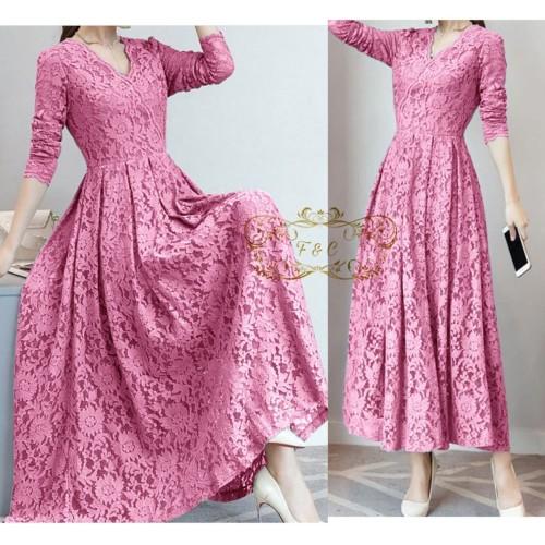 Foto Produk Maxy Dress Cassie/dress pesta/maxy brukat/fashion wanita/new/termurah - navy dari lapickmeupstores