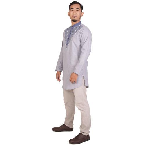 Foto Produk Zatta Men Kaftan Afshan - Silver Grey, L dari Zatta Men Official