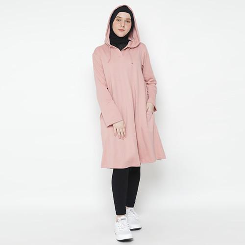 Foto Produk Heaven Sent - Sweater Hoodie Wanita Sabriyah Dusty Pink - L dari Heaven Sent Official