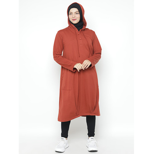Foto Produk Heaven Sent - Sweater Hoodie Wanita Terbaru Salimah Teracotta - M dari Heaven Sent Official