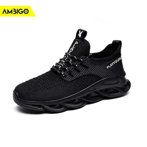 Foto Produk Sepatu Sneakers Olahraga Pria Ambigo VYPER VOL II Running Shoes - Cokelat, 43 dari Jagonya Case