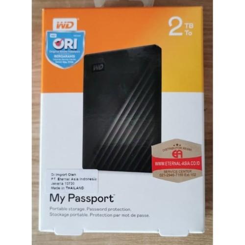 Foto Produk WD MY PASSPORT HARDDISK EXT 2TB USB 3.0 dari IT Official Shop