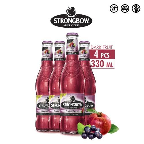 Foto Produk Strongbow Dark Fruits 330ml Multipack 4 dari Drink Corner Bekasi