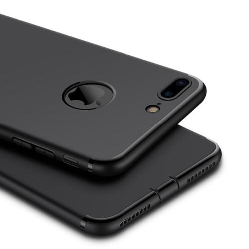 Foto Produk iPhone 7/7 Plus/6/6s+ PREMIUM soft Case Black - Hitam dari Tablet id