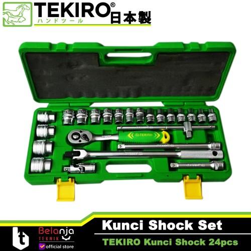 "Foto Produk Tekiro Kunci SHOCK Set 8 - 32 mm 1/2"" HAND Socket 24 Pcs 6 PT 8-32mm dari Belanja Teknik"