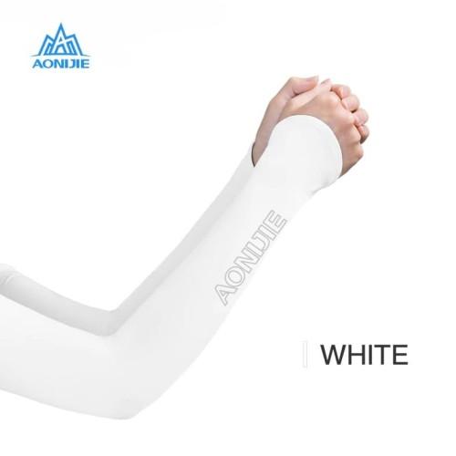 Foto Produk Aonijie E4118 Arm Sleeve - Manset kaos tangan Lari sepeda - WHITE - LXL dari Aonijie Indonesia