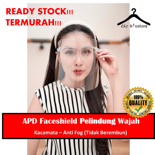 Foto Produk APD Pelindung Wajah Face Shield Kacamata Masker Muka Kesehatan Ramadha dari Clothicstore