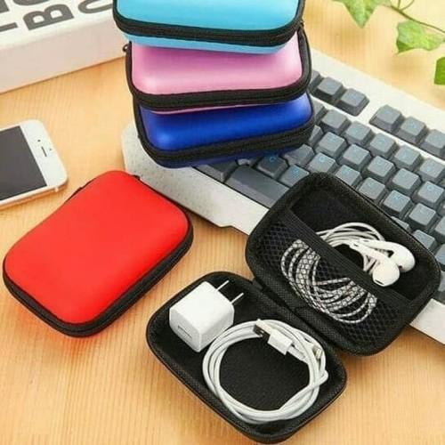 Foto Produk R0549 Pouch KECIL Travel Organizer Kabel Charger Adaptor Earphone - Random dari Best Accessories