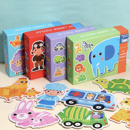 Foto Produk Set Puzzle Edukasi Anak Lengkap / 33 Ladder Puzzle - Farm dari Educationplays