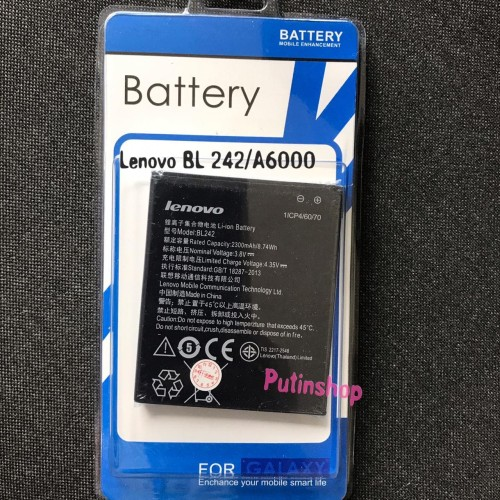 Foto Produk Baterai Batre Battery Original Lenovo BL242/A6000 dari Putinshop