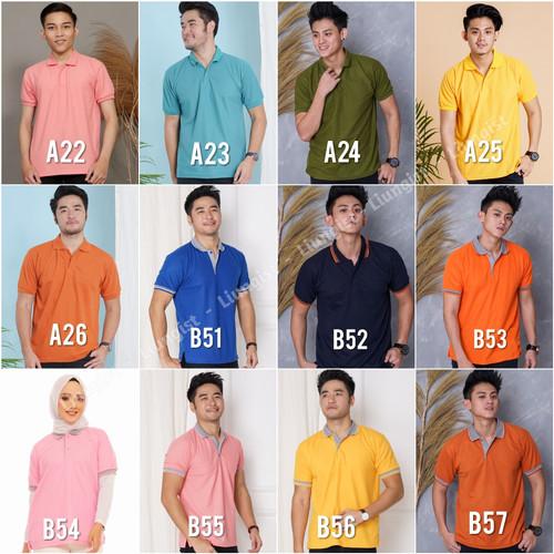 Foto Produk Kaos polo / kaos kerah / baju polo / polo shirt harga promo - Tulis No Warna, S dari Liungist Clothing