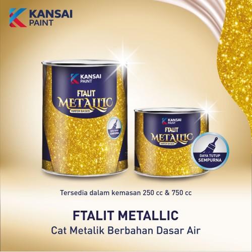 Foto Produk Cat Emas FTALIT Metallic Water base 250cc dari Luxury Living Life