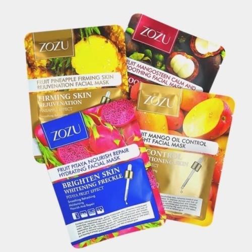 Foto Produk ZOZU FRUIT SHEET MASK FACIAL MANGO MANGOSTEEN PITAYA MASKER WAJAH dari Bursa Cosmetik Murah