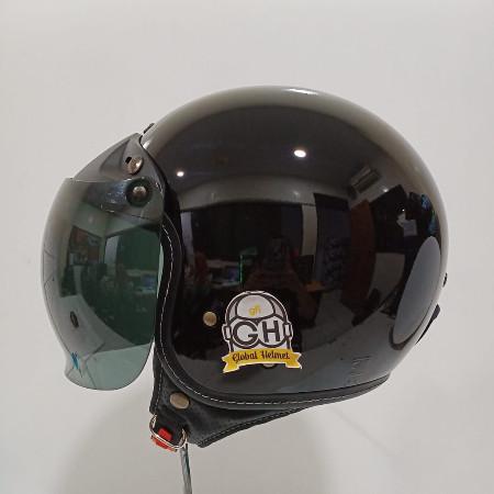 Foto Produk Helm NJS Retro NR 80S Solid Original - BLACK, M dari Global helmet