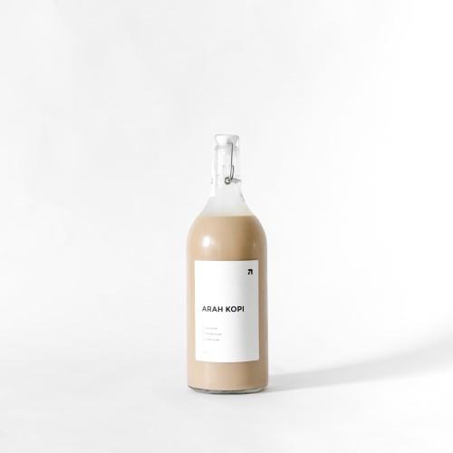 Foto Produk Kopi Susu 1 Liter / 1000 ml Caffe Latte by Arah Kopi - Botol Kaca dari Arah Kopi Official