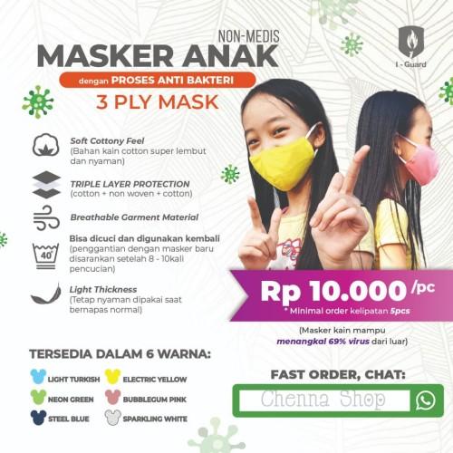 Foto Produk MASKER KAIN ANAK I-GUARD - 3 PLY dari Chenna_Shop25