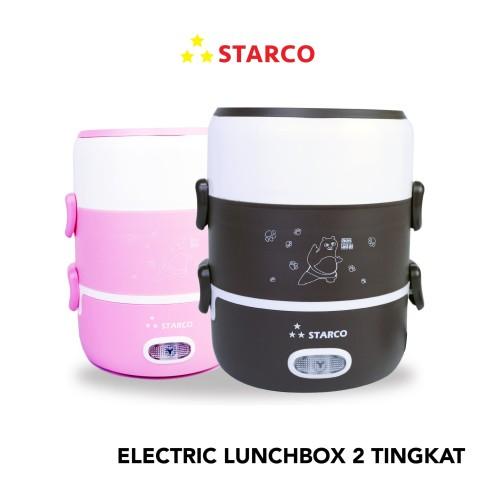 Foto Produk Starco Electric Lunchbox 2 Tingkat SRC-202 - Merah Muda dari Starco Official Store