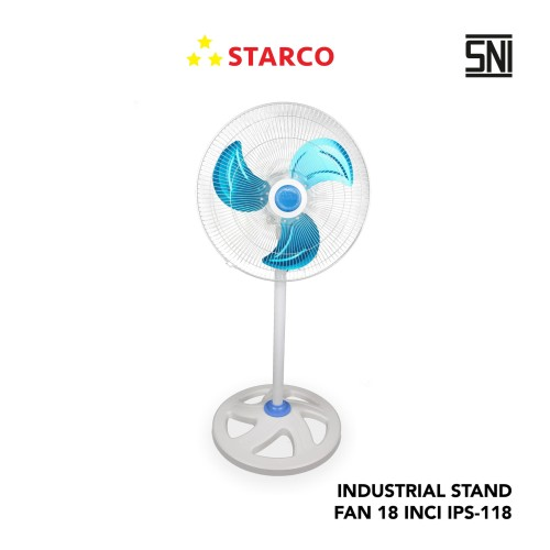 Foto Produk Starco Industrial Stand Fan IPS-118 - Putih dari Starco Official Store