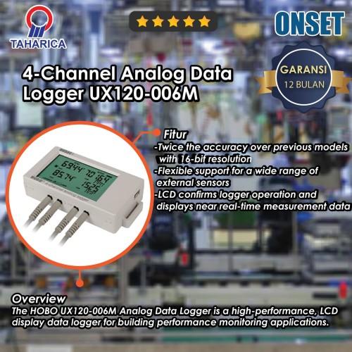 Foto Produk 4-Channel Analog Data Logger UX120-006M dari Raya Stock