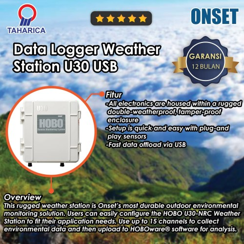 Foto Produk HOBO Data Logger U30 USB Weather Station U30-NRC dari Raya Stock