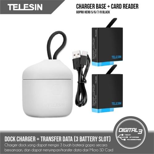 Foto Produk Telesin Allin Charger + 2 Battery + Card Reader GoPro Hero 5 6 7 8 dari digital 3