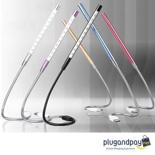 Foto Produk Lampu Belajar LED USB Metal Flexible 10 LED dari plugandpay
