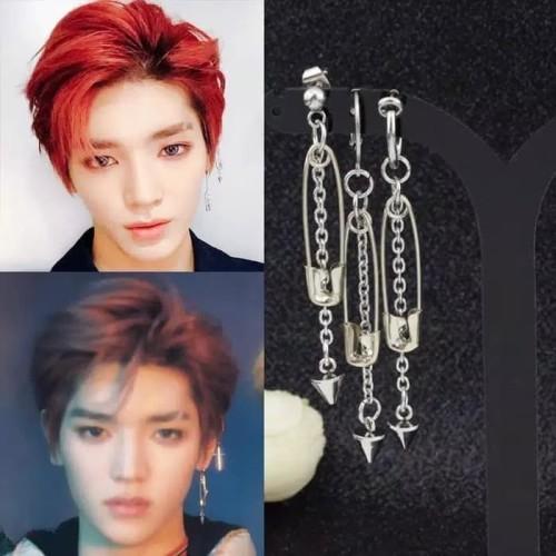 Foto Produk EE0470 - Anting JEPIT Tanpa Tindik Pria Wanita Kpop Korea BTS EXO GOT7 dari Dellaui Shop