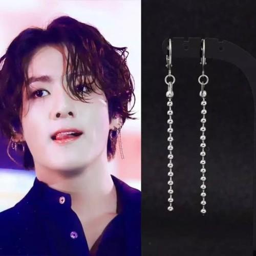 Foto Produk TEE0458 - Anting TUSUK Tindik Pria Wanita Kpop Korea BTS EXO GOT7 dari Dellaui Shop